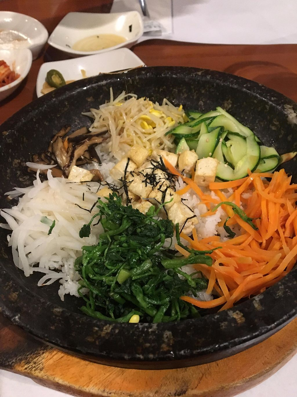 """Photo of Seoul Garden  by <a href=""""/members/profile/EmilySuttonTaylor"""">EmilySuttonTaylor</a> <br/>Tofu Bibimbap with no egg <br/> September 24, 2017  - <a href='/contact/abuse/image/101652/307981'>Report</a>"""