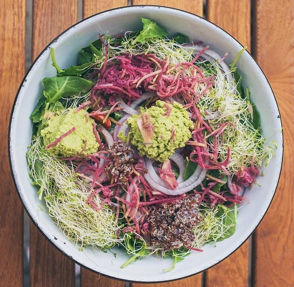 """Photo of Bareburger  by <a href=""""/members/profile/Bareburgerlakeview"""">Bareburgerlakeview</a> <br/>Farmer's Basket Vegan Salad <br/> September 25, 2017  - <a href='/contact/abuse/image/101660/308416'>Report</a>"""