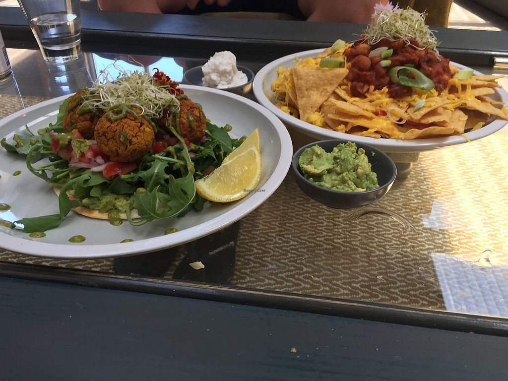 "Photo of Hunter  by <a href=""/members/profile/HeidiW"">HeidiW</a> <br/>Nachos with vegan cheese and sour cream, sweet potato felafels  <br/> January 4, 2018  - <a href='/contact/abuse/image/101678/342796'>Report</a>"
