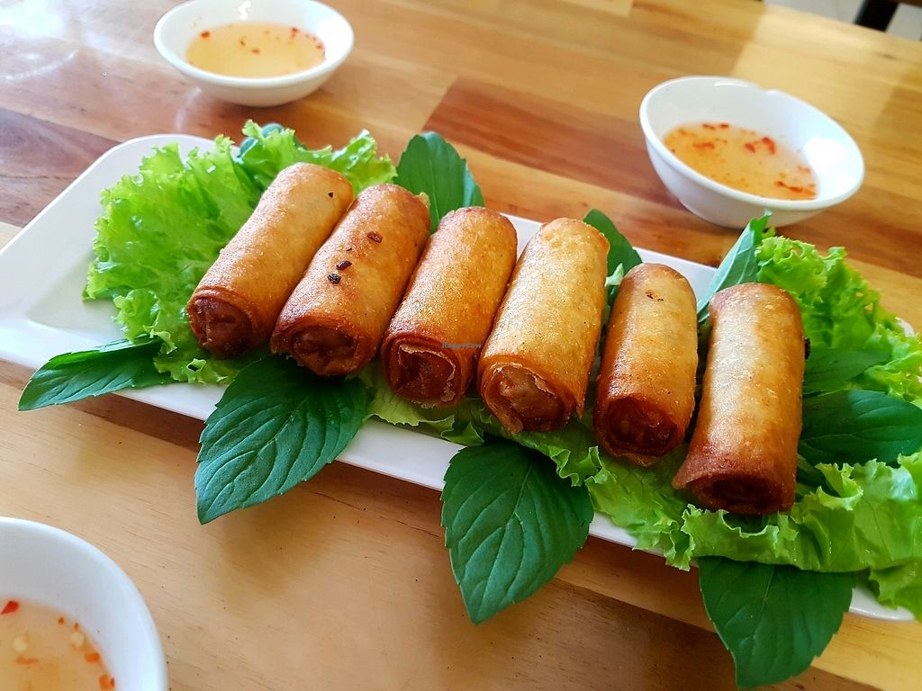 """Photo of Thanh Khiet - Am Thuc Chay  by <a href=""""/members/profile/PeterRichards"""">PeterRichards</a> <br/>spring rolls <br/> September 26, 2017  - <a href='/contact/abuse/image/101680/308715'>Report</a>"""