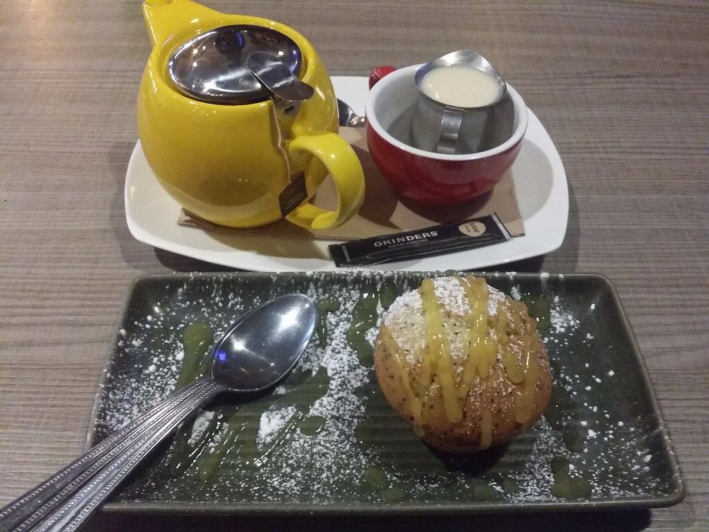 """Photo of Zagame's  by <a href=""""/members/profile/ericacrombie"""">ericacrombie</a> <br/>Orange and poppyseed muffin and tea. They have a tea/coffee and cake deal for $11  <br/> September 26, 2017  - <a href='/contact/abuse/image/101694/308625'>Report</a>"""