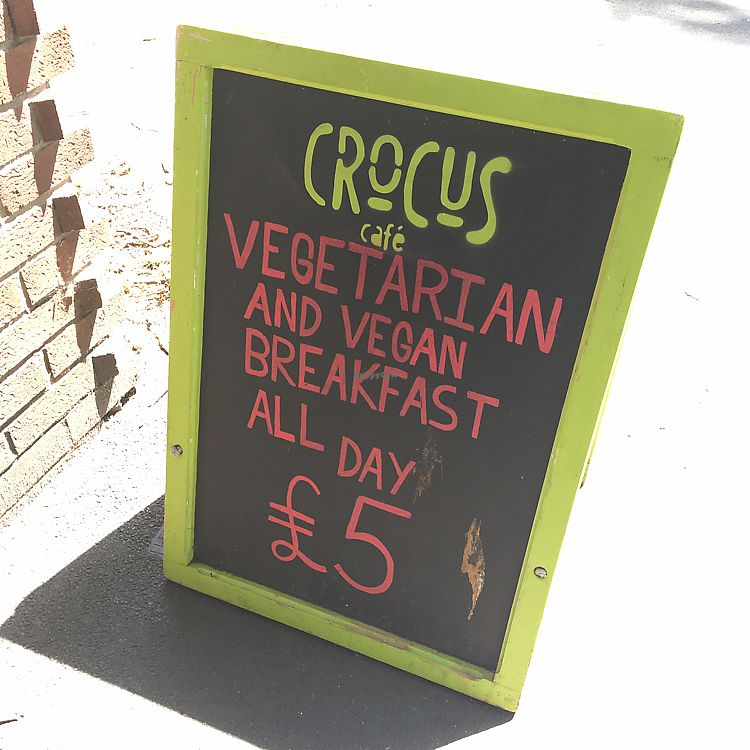 """Photo of Crocus Cafe  by <a href=""""/members/profile/Spaghetti_monster"""">Spaghetti_monster</a> <br/>crocus sign board  <br/> June 17, 2017  - <a href='/contact/abuse/image/10169/270201'>Report</a>"""