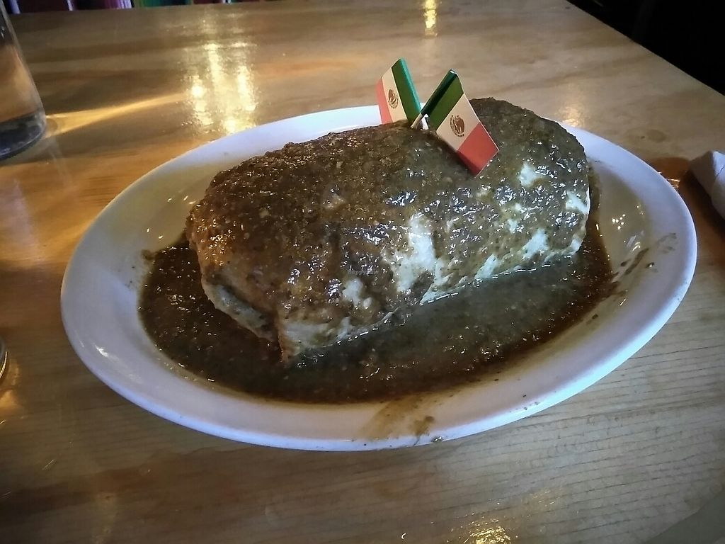 """Photo of Bimbos Cantina  by <a href=""""/members/profile/Missvegan9"""">Missvegan9</a> <br/>Enormous wet burrito! ??? <br/> September 25, 2017  - <a href='/contact/abuse/image/101711/308512'>Report</a>"""
