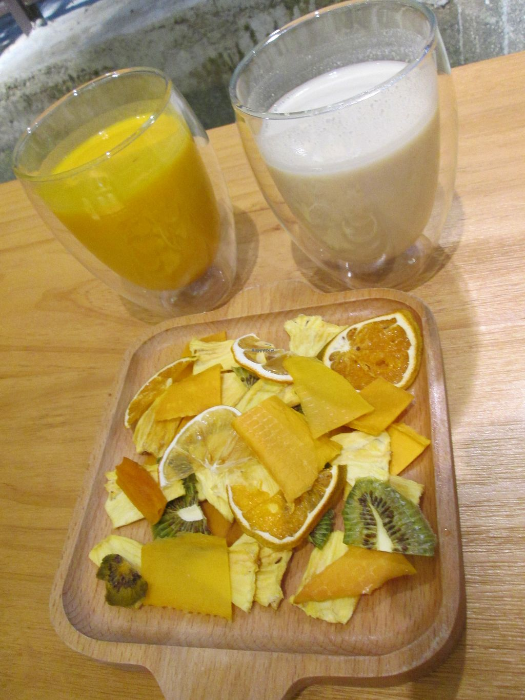 "Photo of Green Market  by <a href=""/members/profile/vitalvegan"">vitalvegan</a> <br/>Soymilk drink and Pumpkin and coconut drink along with dried fruit plate <br/> September 26, 2017  - <a href='/contact/abuse/image/101728/308691'>Report</a>"