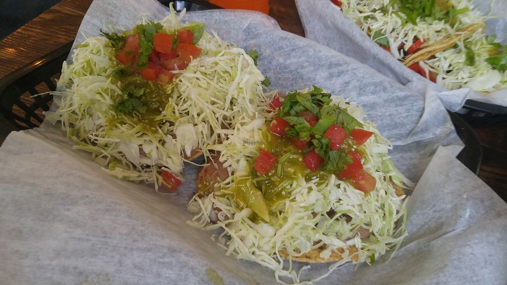 "Photo of Spanglish  by <a href=""/members/profile/bms2120"">bms2120</a> <br/>Beam tostadas topped with lettuce, pico de gallo and shredded cabbage.