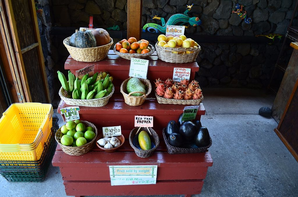 """Photo of The South Kona Fruit Stand  by <a href=""""/members/profile/alexandra_vegan"""">alexandra_vegan</a> <br/>Fruits on display <br/> September 27, 2017  - <a href='/contact/abuse/image/101790/308969'>Report</a>"""