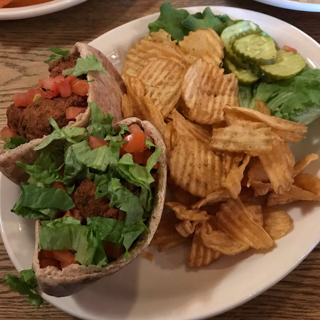 """Photo of Offshore Ale Co  by <a href=""""/members/profile/Sarah%20P"""">Sarah P</a> <br/>Falafel special made vegan <br/> March 25, 2018  - <a href='/contact/abuse/image/101793/376021'>Report</a>"""