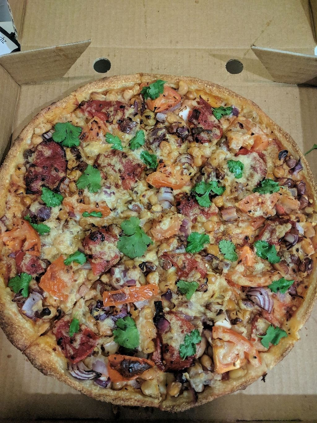 """Photo of Pizza Max  by <a href=""""/members/profile/VeganSoapDude"""">VeganSoapDude</a> <br/>Farmer's market with vegan cheese  <br/> September 27, 2017  - <a href='/contact/abuse/image/101821/309201'>Report</a>"""