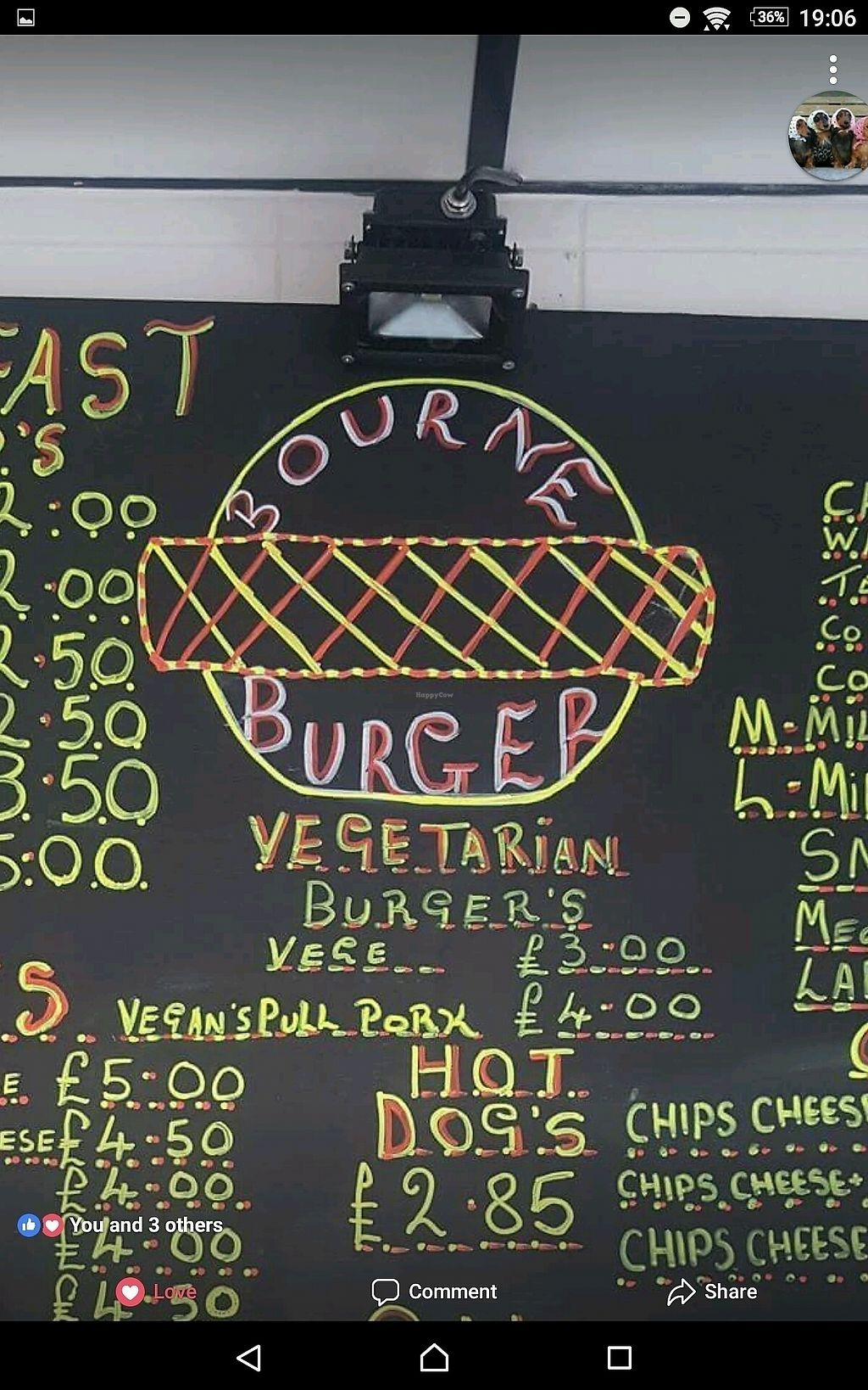 """Photo of Bourne Burger  by <a href=""""/members/profile/Mandiebythesea"""">Mandiebythesea</a> <br/>Menu <br/> September 27, 2017  - <a href='/contact/abuse/image/101823/309113'>Report</a>"""