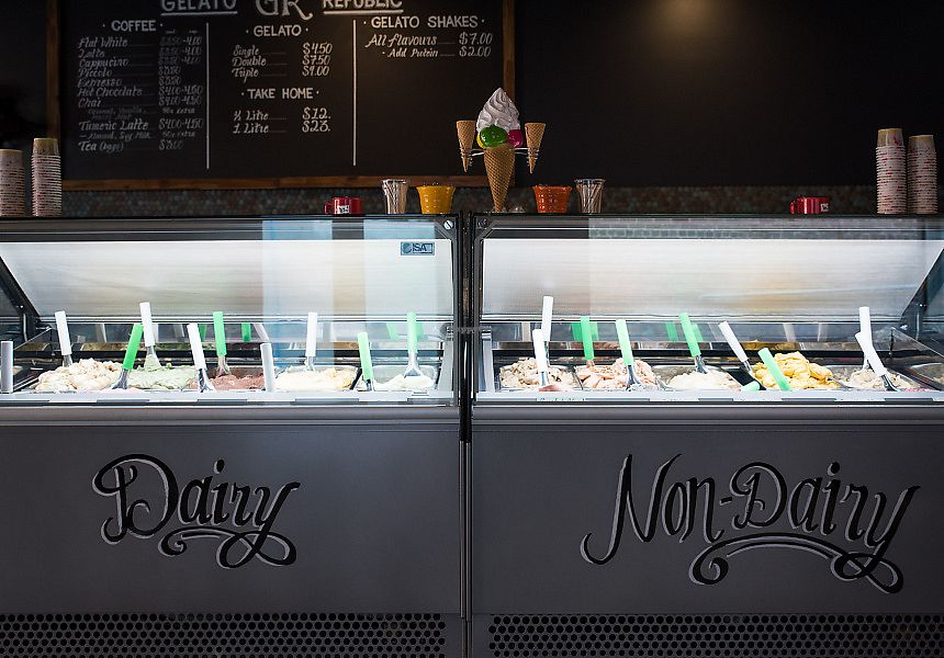"""Photo of Gelato Republic  by <a href=""""/members/profile/MickPap"""">MickPap</a> <br/>DAIRY & GLUTEN FREE gelato made from alternative milks NOT a sorbet 10 delish different flavours <br/> December 10, 2017  - <a href='/contact/abuse/image/101825/334135'>Report</a>"""
