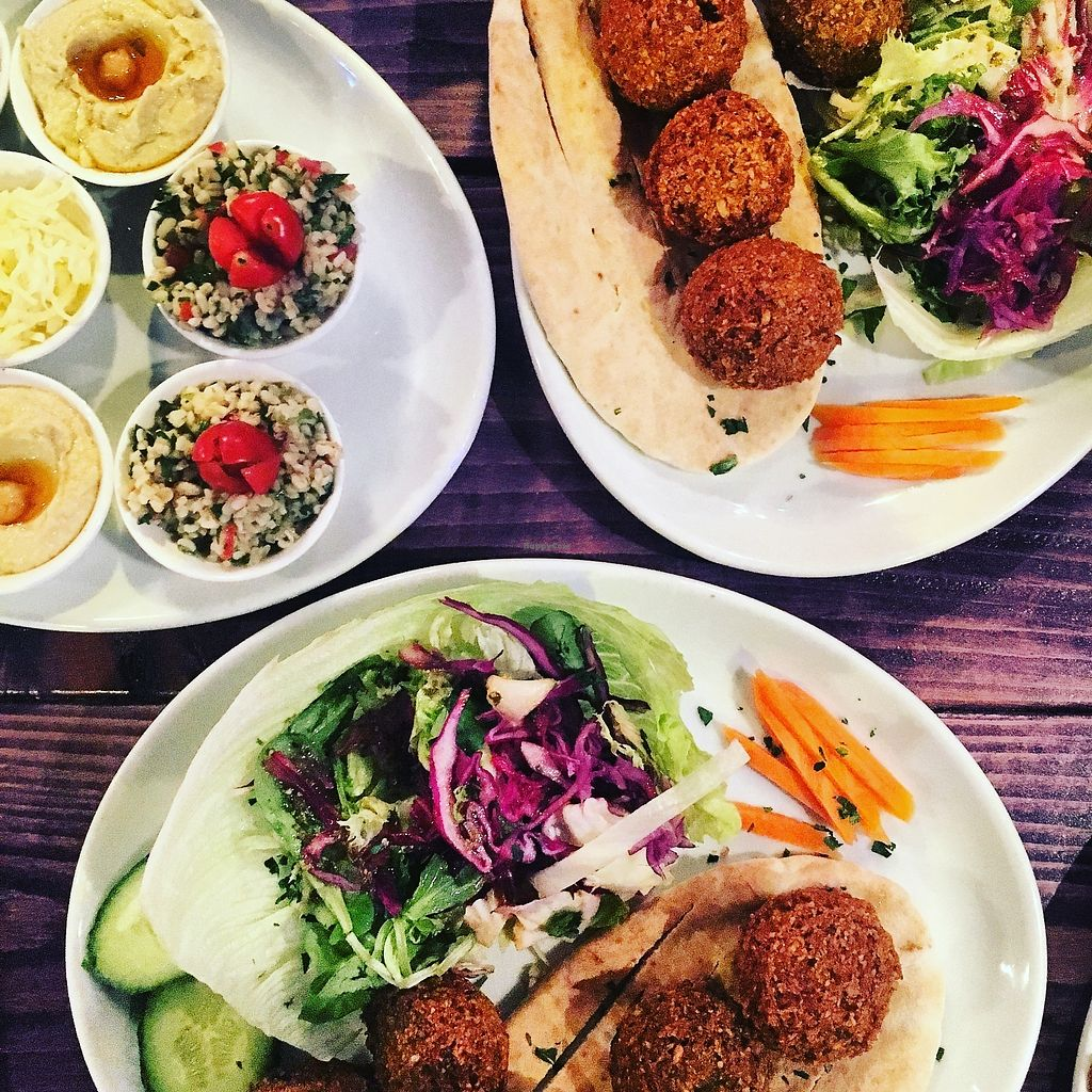 "Photo of La Cafetiere  by <a href=""/members/profile/Natleeds"">Natleeds</a> <br/>Falafel & tamire with salad  <br/> September 27, 2017  - <a href='/contact/abuse/image/101855/309223'>Report</a>"
