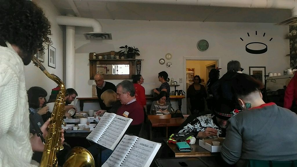 """Photo of Lucky Penny Coffee  by <a href=""""/members/profile/QuothTheRaven"""">QuothTheRaven</a> <br/>yelp holiday bash  <br/> December 10, 2017  - <a href='/contact/abuse/image/101859/334394'>Report</a>"""