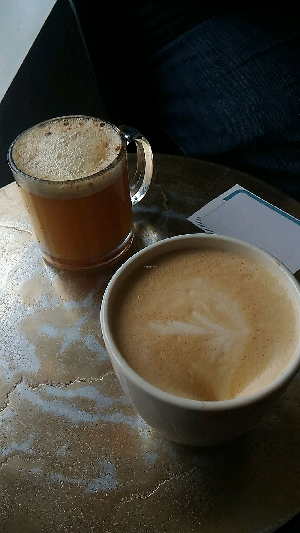 """Photo of Lucky Penny Coffee  by <a href=""""/members/profile/QuothTheRaven"""">QuothTheRaven</a> <br/>peppermint soy steamer and hot apple cider  <br/> December 10, 2017  - <a href='/contact/abuse/image/101859/334396'>Report</a>"""