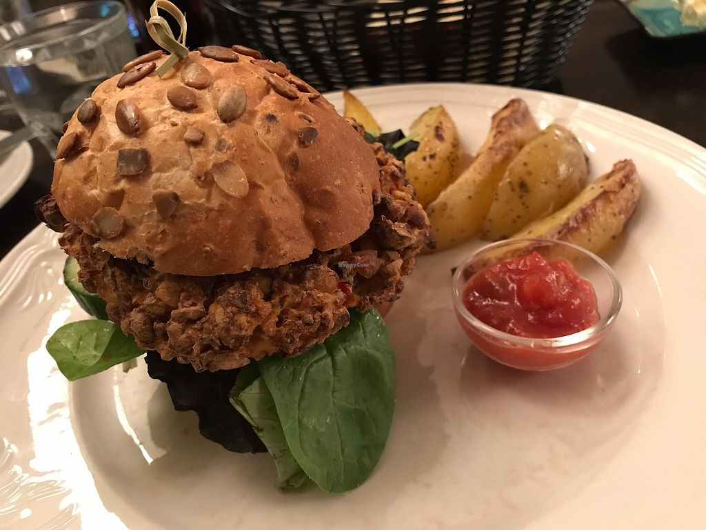 "Photo of The Settlement Center Restaurant  by <a href=""/members/profile/Banana%20Buzzbomb"">Banana Buzzbomb</a> <br/>Vegan burger <br/> September 29, 2017  - <a href='/contact/abuse/image/101905/309709'>Report</a>"