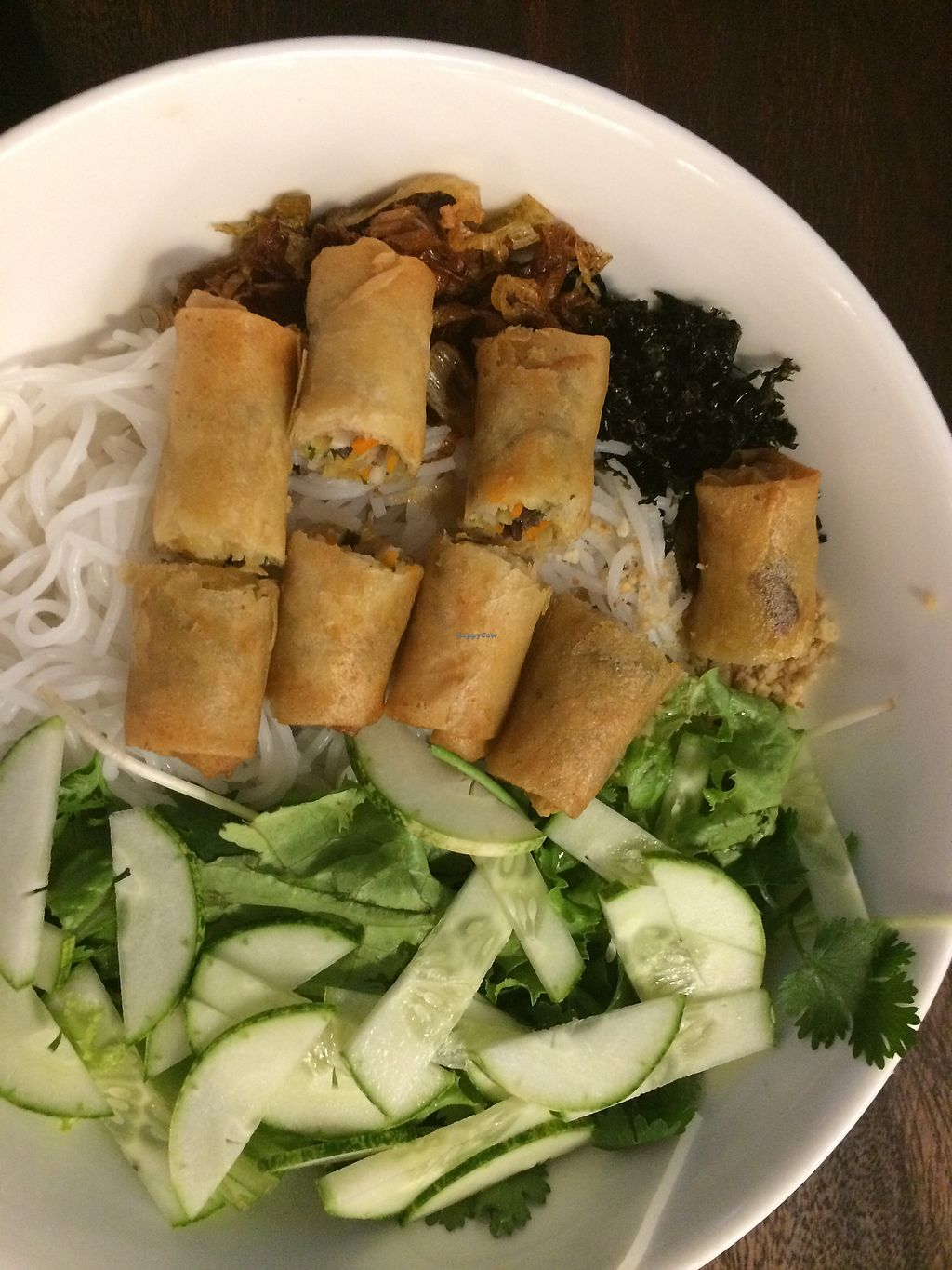 "Photo of ROM - Revolution of Mushroom  by <a href=""/members/profile/LisaL%C3%B6wenherz"">LisaLöwenherz</a> <br/>Fresh noodles with spring rolls so good 50k  <br/> April 17, 2018  - <a href='/contact/abuse/image/101993/387296'>Report</a>"