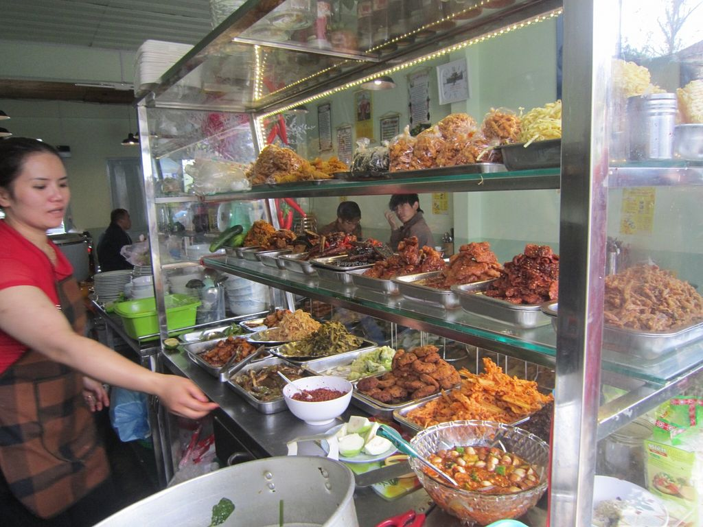 """Photo of Thanh Dam  by <a href=""""/members/profile/IanSmith"""">IanSmith</a> <br/>A large selection of fake meats are available as well as many other dishes <br/> September 24, 2015  - <a href='/contact/abuse/image/10199/118938'>Report</a>"""
