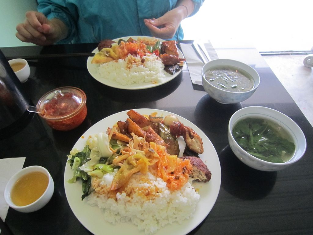 """Photo of Thanh Dam  by <a href=""""/members/profile/IanSmith"""">IanSmith</a> <br/>Plate full of various delicious, dishes with tasty soup included <br/> September 24, 2015  - <a href='/contact/abuse/image/10199/118941'>Report</a>"""