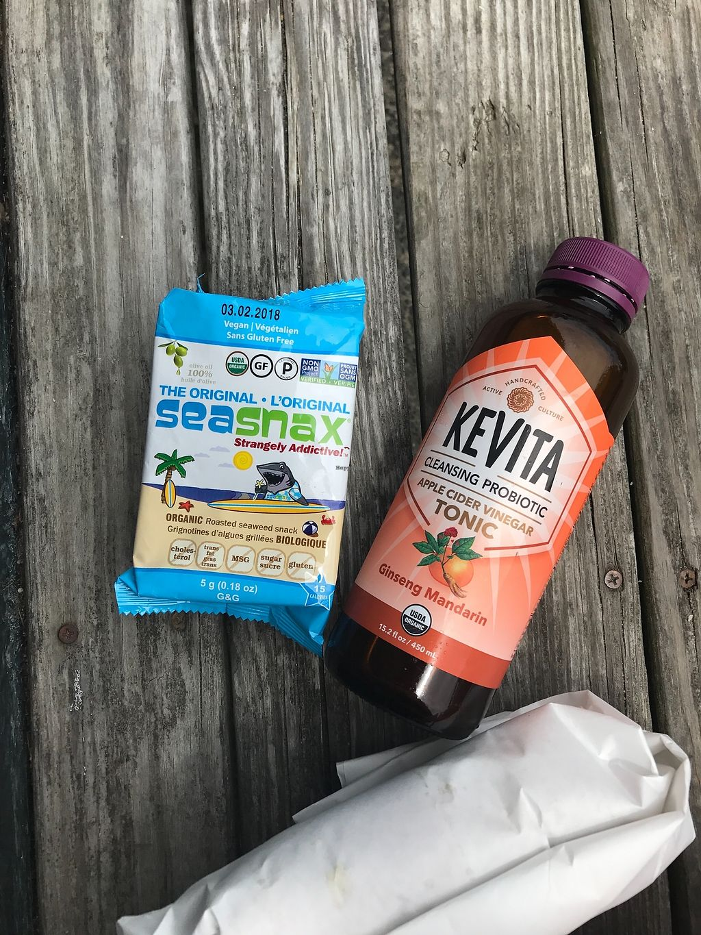 """Photo of Chilmark Store  by <a href=""""/members/profile/megpeters02"""">megpeters02</a> <br/>Up Island Vegan Wrap, Kombucha, & Side <br/> September 30, 2017  - <a href='/contact/abuse/image/102013/310308'>Report</a>"""