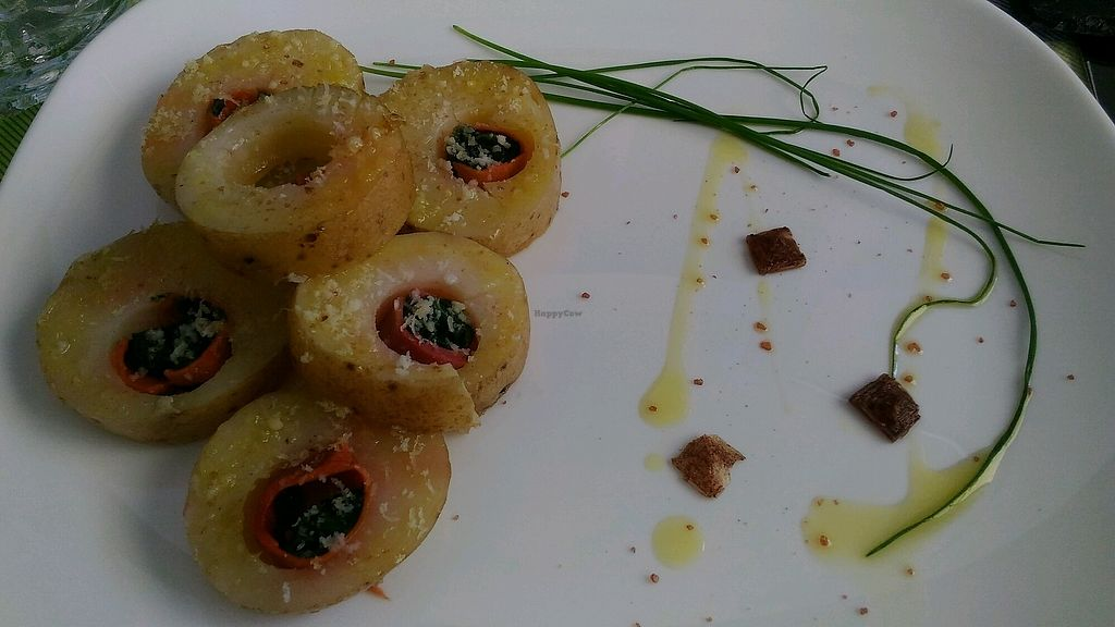 """Photo of Mi Sa di Sano  by <a href=""""/members/profile/cinghietta87"""">cinghietta87</a> <br/>patate ripiene con spinaci e affettato veg <br/> October 9, 2017  - <a href='/contact/abuse/image/102034/313670'>Report</a>"""