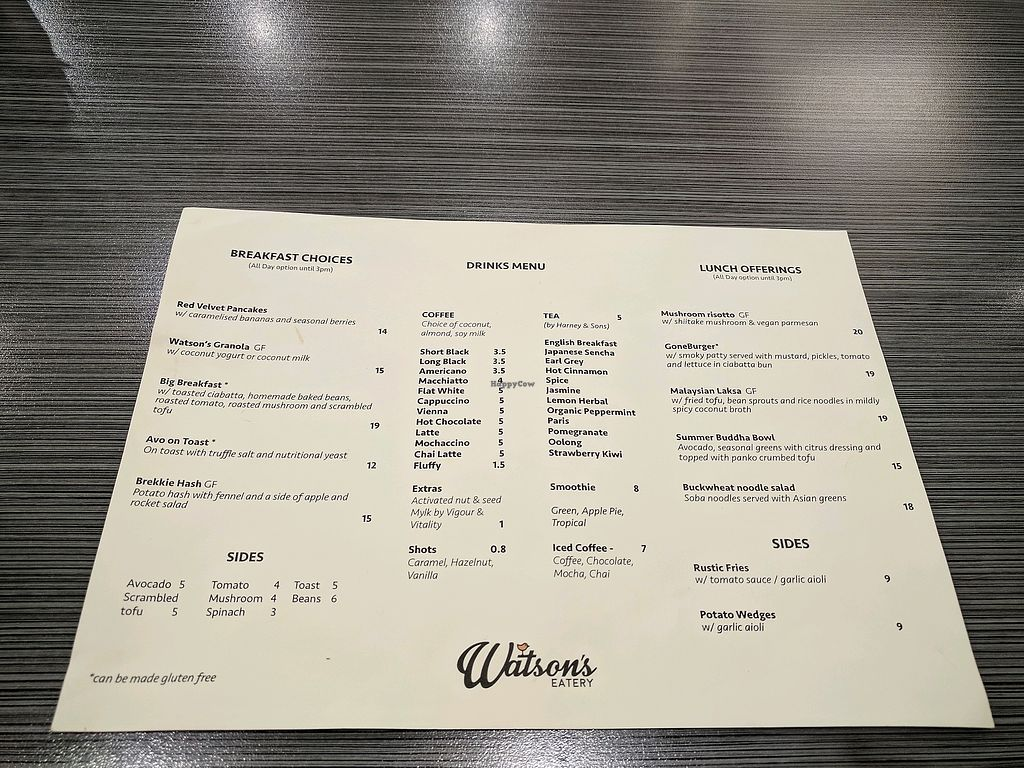 "Photo of Watson's Eatery  by <a href=""/members/profile/VTP"">VTP</a> <br/>Menu <br/> November 20, 2017  - <a href='/contact/abuse/image/102038/327651'>Report</a>"