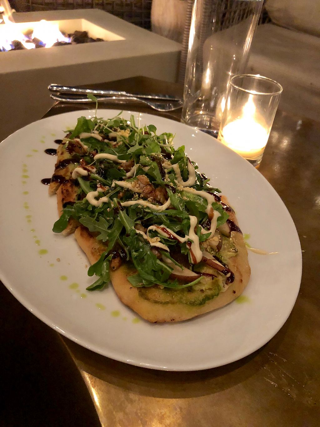 "Photo of Oliver's  by <a href=""/members/profile/Bariann"">Bariann</a> <br/>Pear & ""Gorgonzola"" Flatbread <br/> May 12, 2018  - <a href='/contact/abuse/image/102075/398897'>Report</a>"
