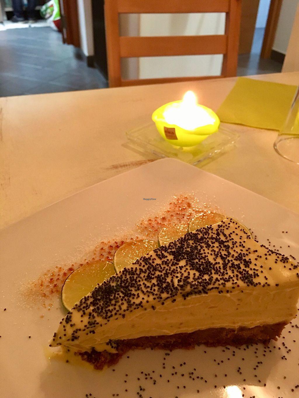 """Photo of Primo Ristorante   by <a href=""""/members/profile/Rossella"""">Rossella</a> <br/>Soya cake al limone con semi di papavero  <br/> October 19, 2017  - <a href='/contact/abuse/image/102080/316701'>Report</a>"""