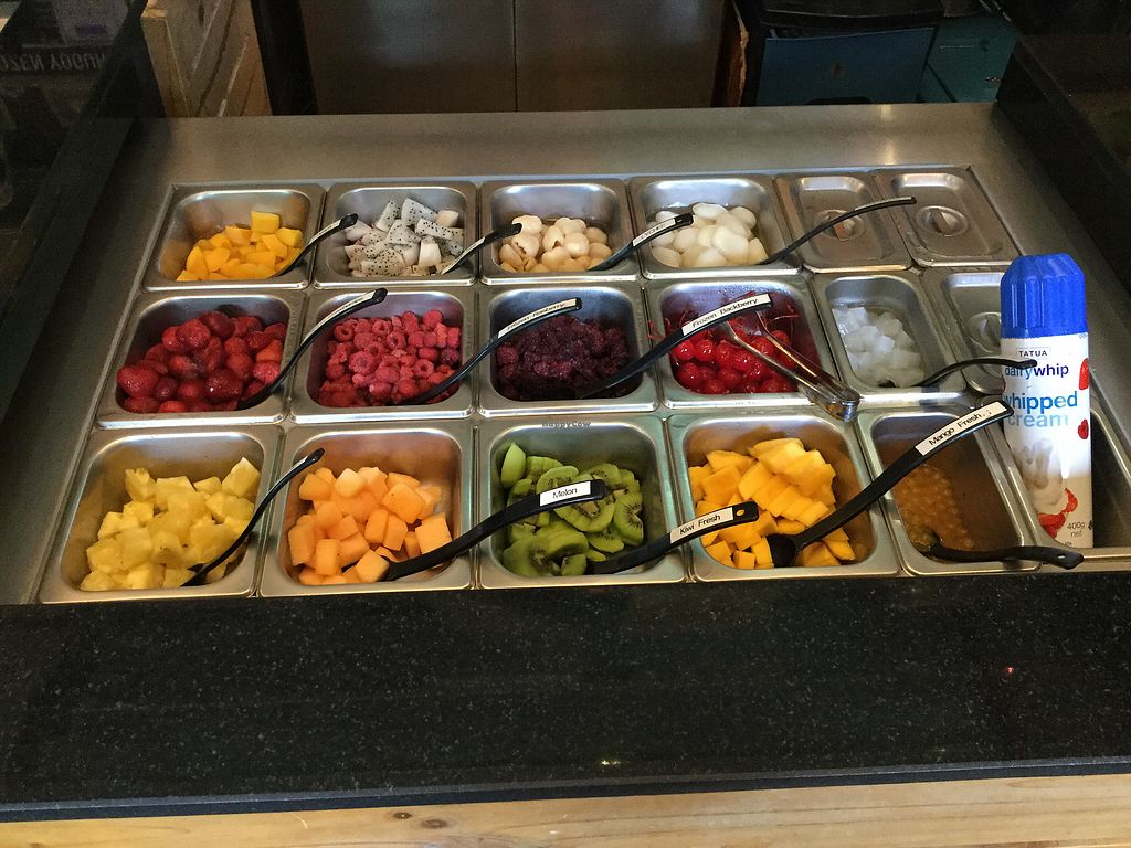 """Photo of VAVA Frozen Yogurt - Thae Pae Gate  by <a href=""""/members/profile/Mike%20Munsie"""">Mike Munsie</a> <br/>fruit toppings <br/> October 3, 2017  - <a href='/contact/abuse/image/102120/311285'>Report</a>"""