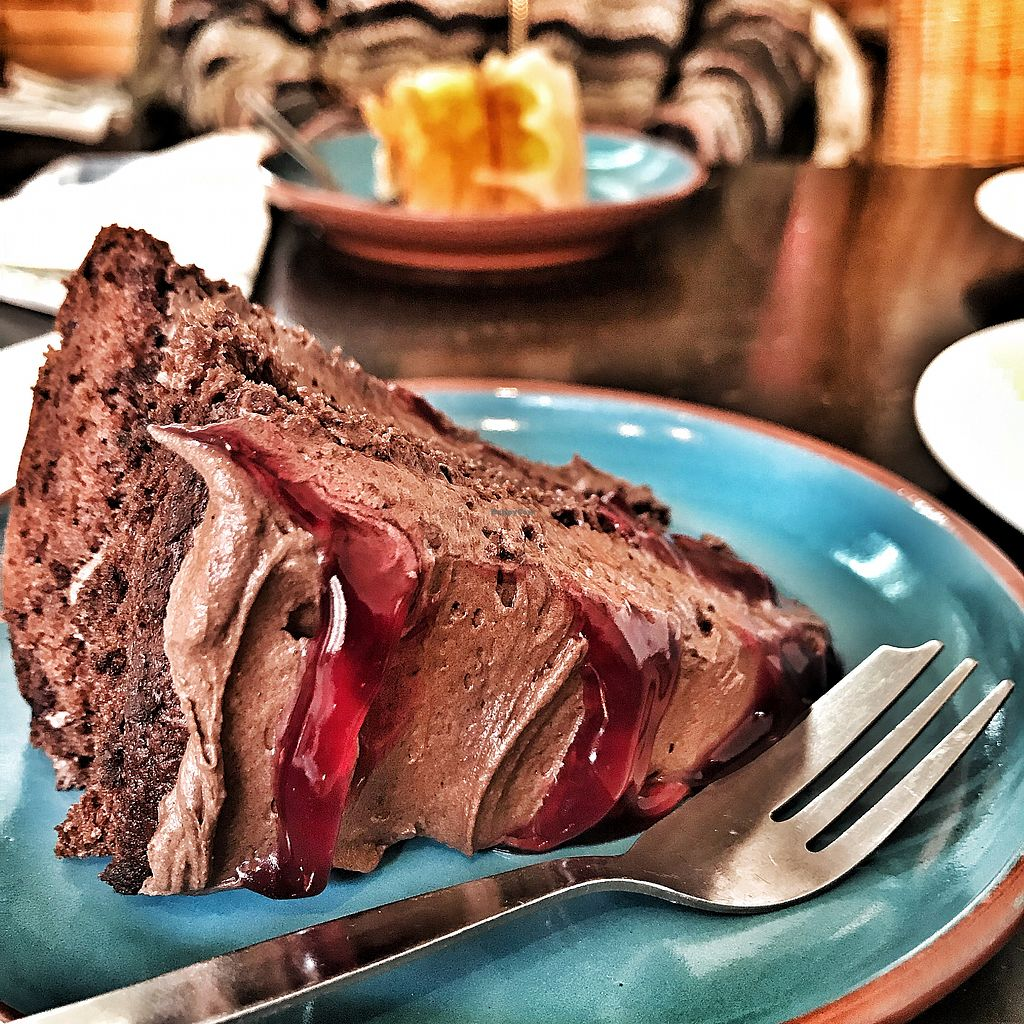 """Photo of Oak St Coffee  by <a href=""""/members/profile/MozOz"""">MozOz</a> <br/>Vegan black cherry & chocolate cake <br/> February 15, 2018  - <a href='/contact/abuse/image/102141/359705'>Report</a>"""