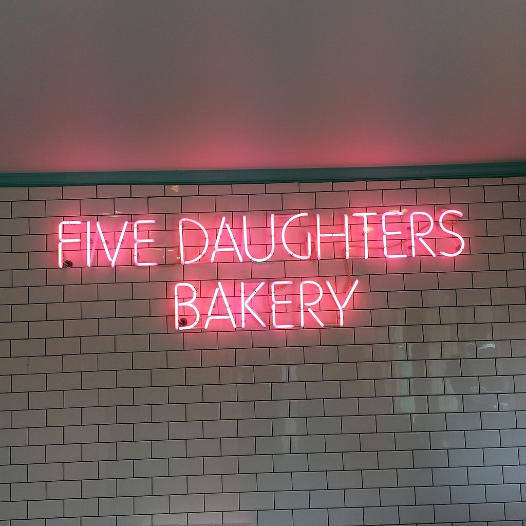 "Photo of Five Daughters Bakery - Caruthers Ave  by <a href=""/members/profile/KatieBush"">KatieBush</a> <br/>love this neon sign over the main area <br/> October 2, 2017  - <a href='/contact/abuse/image/102158/311141'>Report</a>"