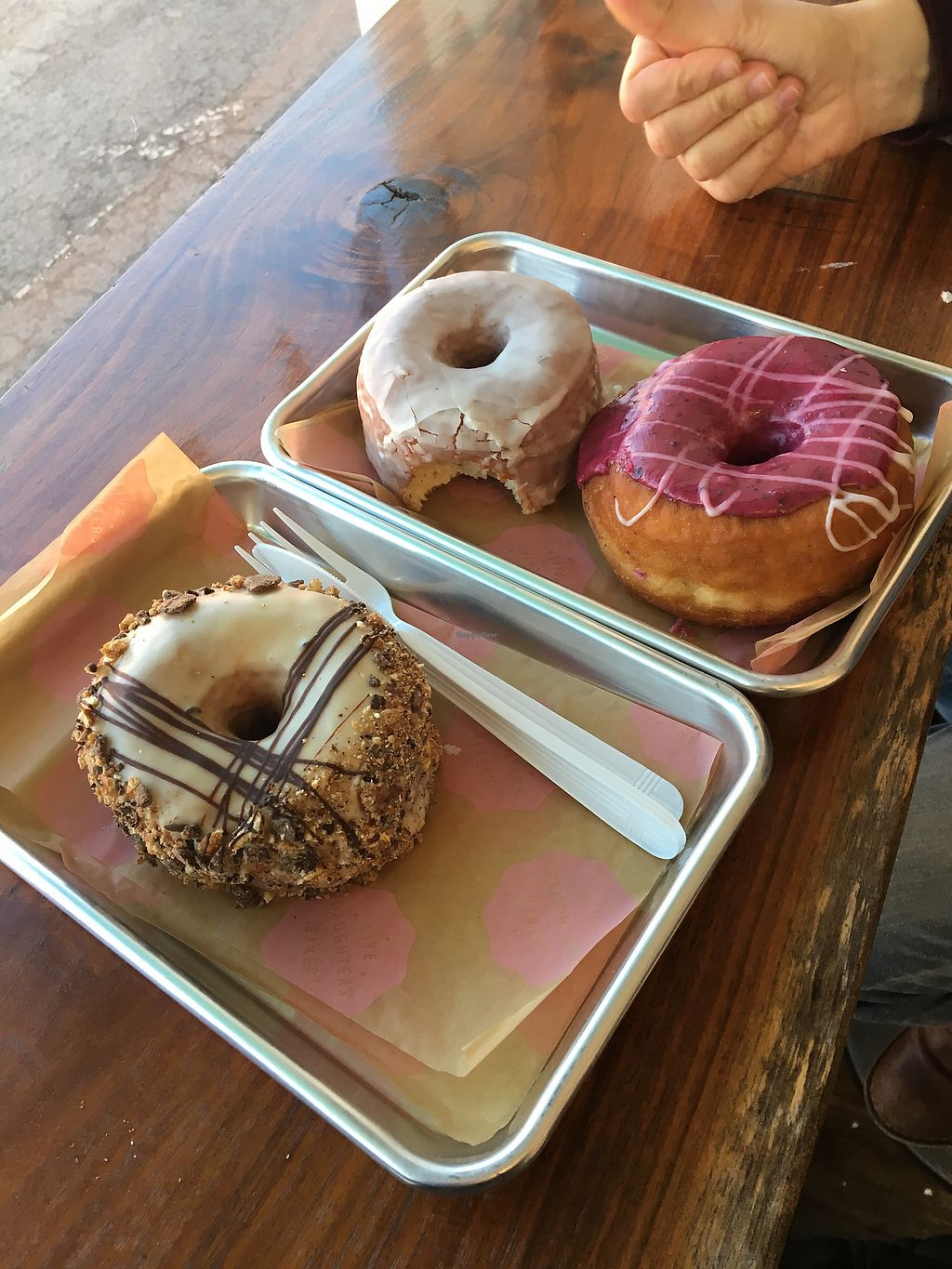 "Photo of Five Daughters Bakery - Caruthers Ave  by <a href=""/members/profile/Thepennsyltuckyvegan"">Thepennsyltuckyvegan</a> <br/>Best breakfast EVER <br/> March 14, 2018  - <a href='/contact/abuse/image/102158/370652'>Report</a>"