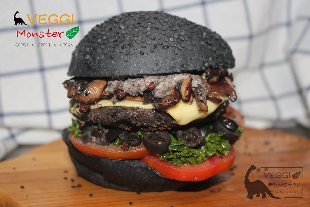 """Photo of Veggi Monster  by <a href=""""/members/profile/ansonics"""">ansonics</a> <br/>Burger in Black <br/> October 6, 2017  - <a href='/contact/abuse/image/102202/312143'>Report</a>"""