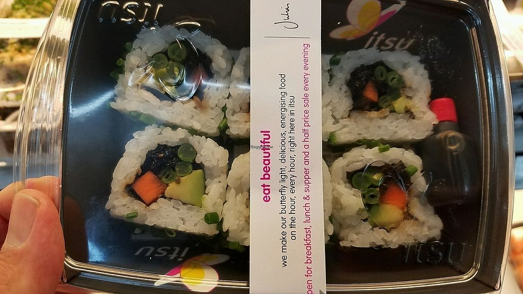 """Photo of Itsu - Stansted Airport  by <a href=""""/members/profile/eric"""">eric</a> <br/>vegan sushi <br/> October 3, 2017  - <a href='/contact/abuse/image/102211/311405'>Report</a>"""