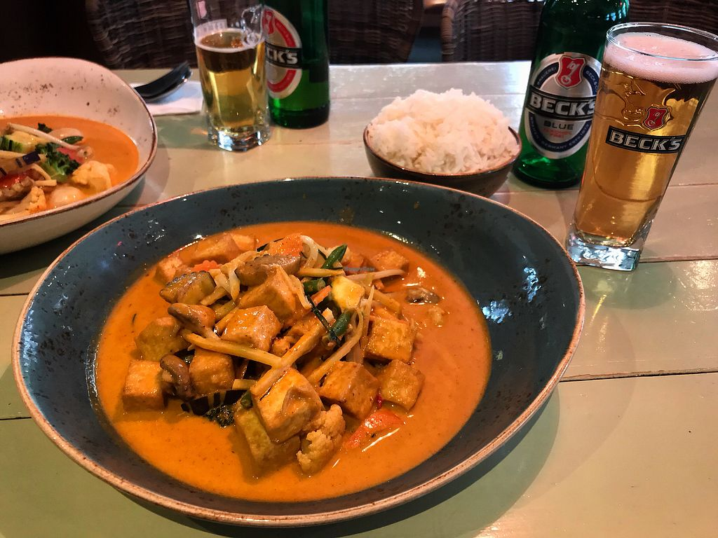 """Photo of Green Thai  by <a href=""""/members/profile/monizebn"""">monizebn</a> <br/>Chu Chee vegan curry + extra tofu  <br/> March 26, 2018  - <a href='/contact/abuse/image/102214/376581'>Report</a>"""