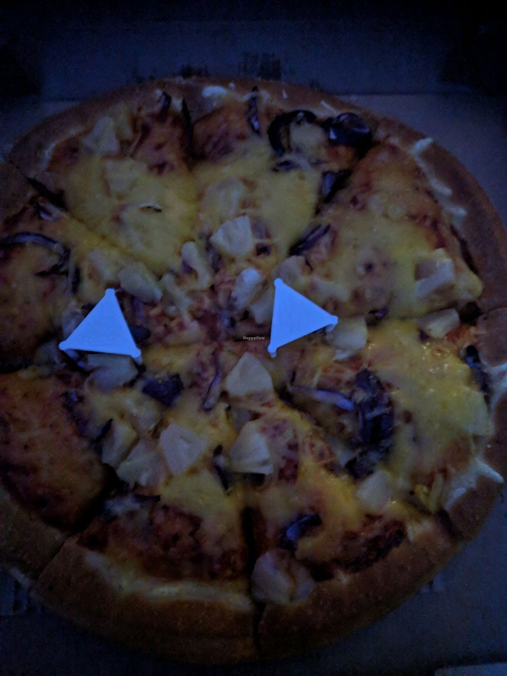 "Photo of Pizza Hut  by <a href=""/members/profile/KatyVeness"">KatyVeness</a> <br/>Vegan pizza <br/> January 7, 2018  - <a href='/contact/abuse/image/102227/344108'>Report</a>"