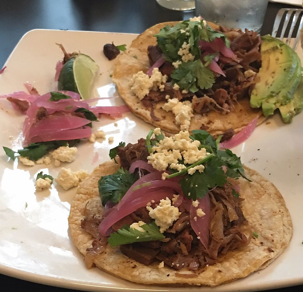 """Photo of Detroit Street Filling Station  by <a href=""""/members/profile/WFPBatarian"""">WFPBatarian</a> <br/>""""Carnitas"""" tacos <br/> April 13, 2018  - <a href='/contact/abuse/image/102229/384871'>Report</a>"""