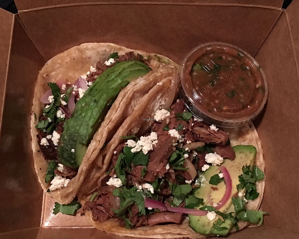 """Photo of Detroit Street Filling Station  by <a href=""""/members/profile/WFPBatarian"""">WFPBatarian</a> <br/>""""Carnitas"""" tacos to-go <br/> April 13, 2018  - <a href='/contact/abuse/image/102229/384872'>Report</a>"""