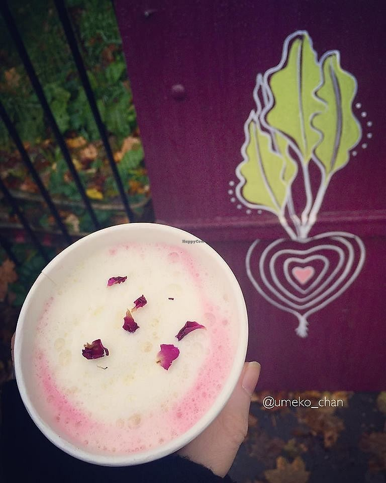 """Photo of Beetroot Cafe  by <a href=""""/members/profile/Umeko"""">Umeko</a> <br/>beetroot late with dried rose petals <br/> November 23, 2017  - <a href='/contact/abuse/image/102294/328334'>Report</a>"""