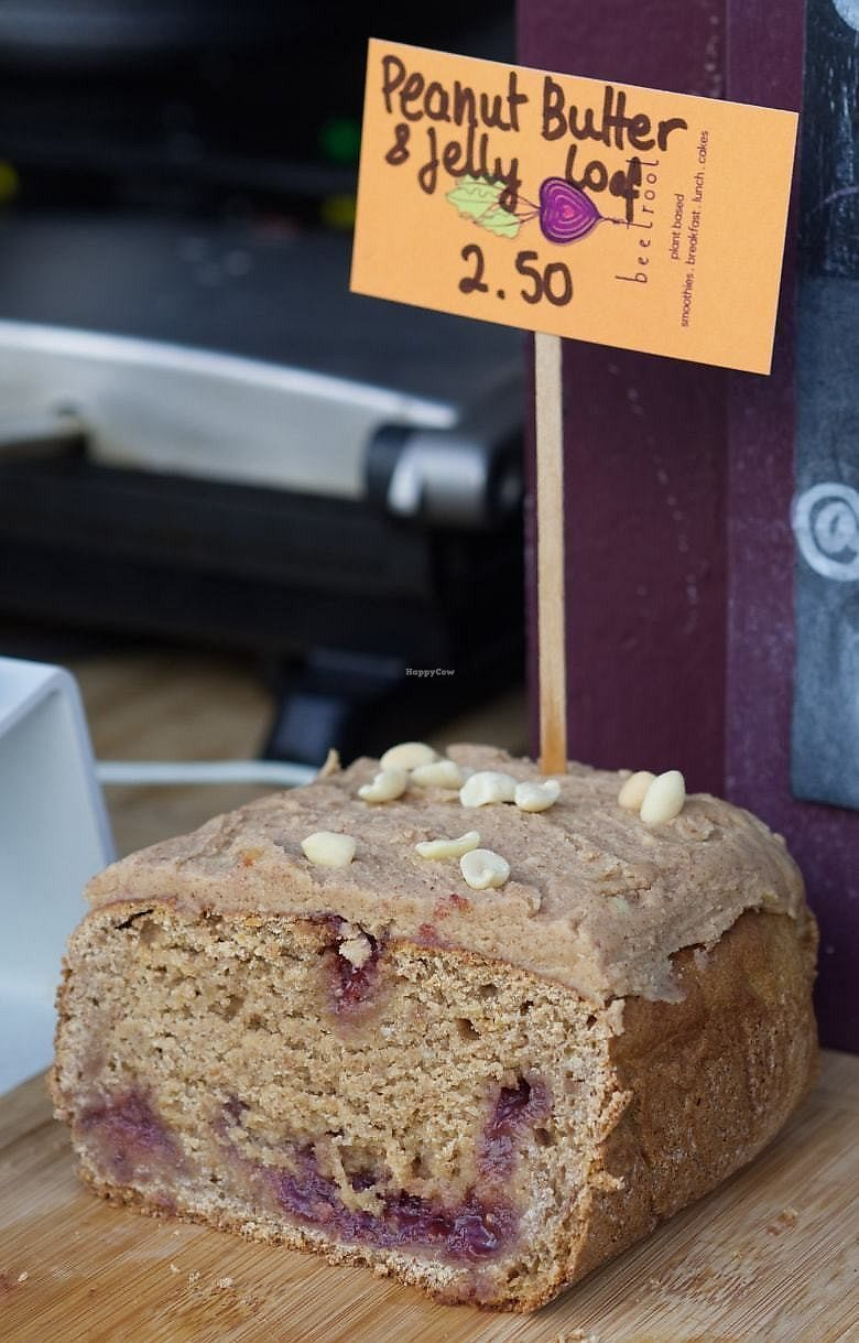 """Photo of Beetroot Cafe  by <a href=""""/members/profile/EmmaFaeEdinburgh"""">EmmaFaeEdinburgh</a> <br/>Peanut butter and jelly loaf at the Beet Box, Edinburgh <br/> February 4, 2018  - <a href='/contact/abuse/image/102294/354950'>Report</a>"""