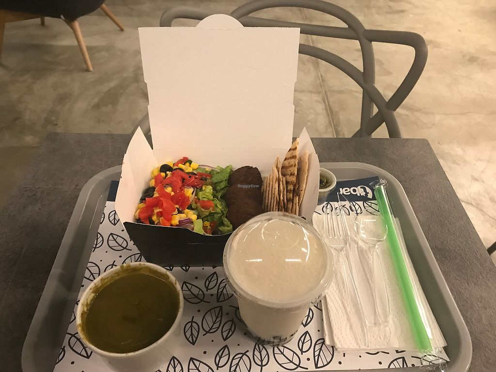 """Photo of T Bar  by <a href=""""/members/profile/GaryBartlett"""">GaryBartlett</a> <br/>Falafel box, coconut bubble tea & zucchini soup  <br/> March 31, 2018  - <a href='/contact/abuse/image/102306/378852'>Report</a>"""