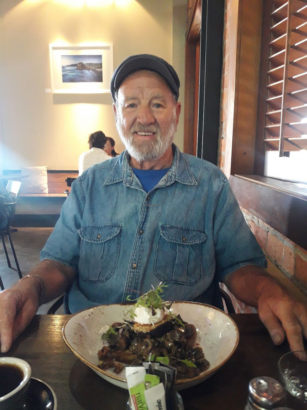 """Photo of The Block Cafe  by <a href=""""/members/profile/TemptationCakes"""">TemptationCakes</a> <br/>Dad with his mushroom bruchetta  <br/> October 5, 2017  - <a href='/contact/abuse/image/102307/311963'>Report</a>"""