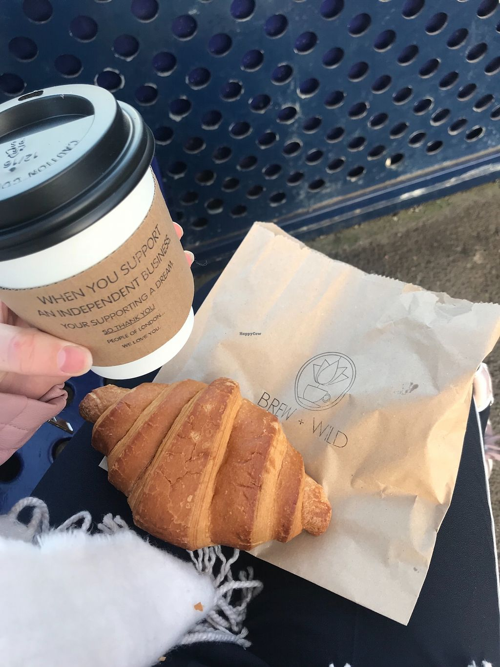 """Photo of Brew + Wild  by <a href=""""/members/profile/soph161"""">soph161</a> <br/>Vegan croissant and almond milk latte yay! <br/> April 16, 2018  - <a href='/contact/abuse/image/102319/386662'>Report</a>"""