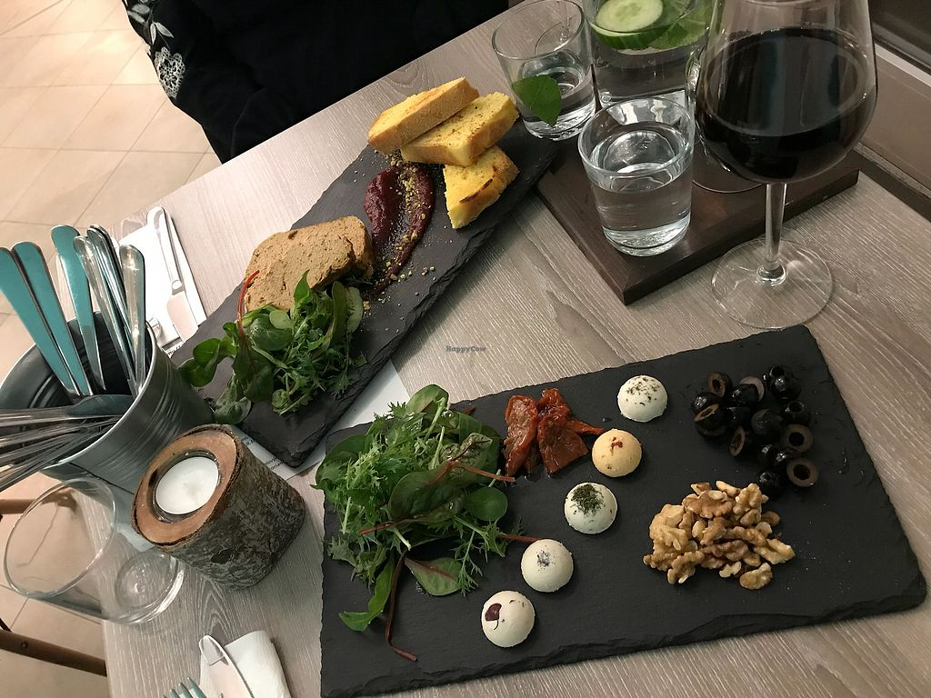 """Photo of Forrest Bistro  by <a href=""""/members/profile/AlexDowney"""">AlexDowney</a> <br/>Starters of mushroom pate and vegan cheese platter  <br/> March 12, 2018  - <a href='/contact/abuse/image/102335/369924'>Report</a>"""