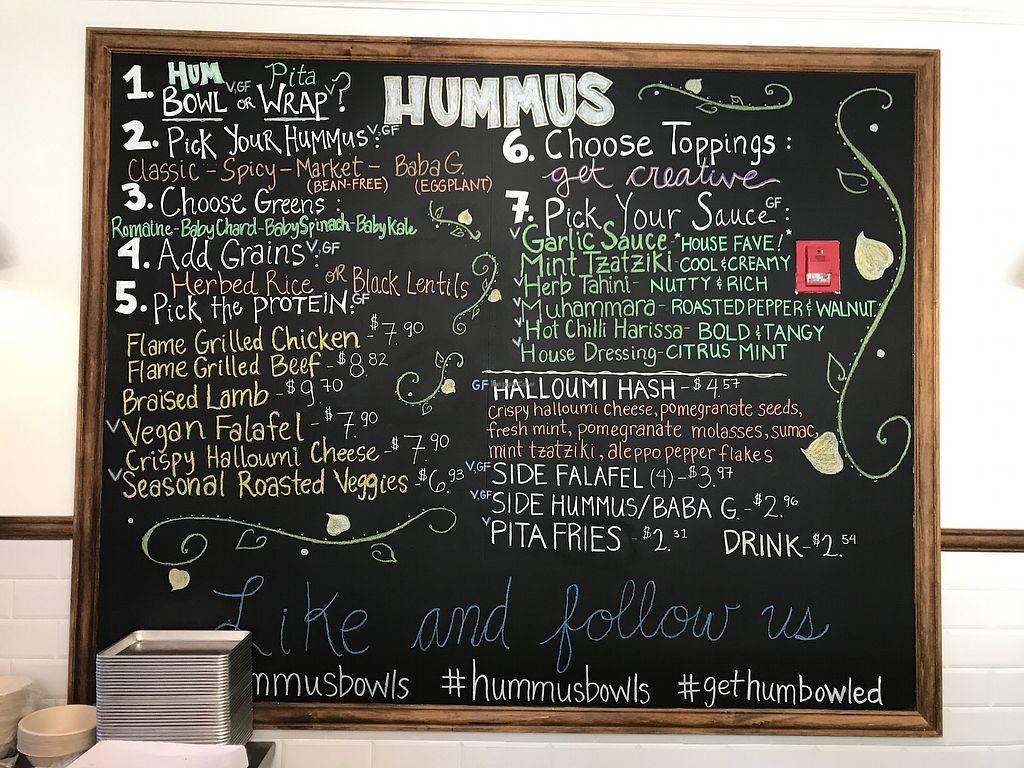 "Photo of Hummus  by <a href=""/members/profile/vegasvegan1"">vegasvegan1</a> <br/>The Menu <br/> October 7, 2017  - <a href='/contact/abuse/image/102375/312852'>Report</a>"