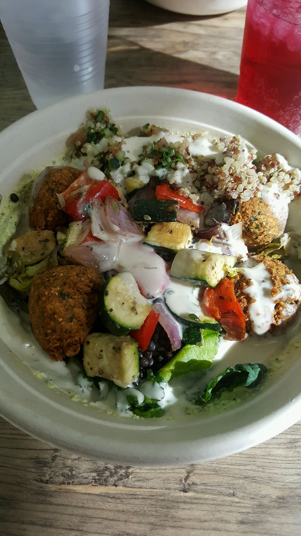 """Photo of Hummus  by <a href=""""/members/profile/kwhalon"""">kwhalon</a> <br/>Falafel and Roasted Veggies with Tahini <br/> February 10, 2018  - <a href='/contact/abuse/image/102375/357535'>Report</a>"""