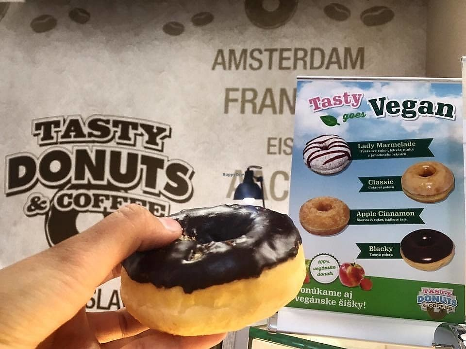 """Photo of Tasty Donuts & Coffee - Central Mall  by <a href=""""/members/profile/Nikolate"""">Nikolate</a> <br/>vegan selection <br/> October 6, 2017  - <a href='/contact/abuse/image/102384/312415'>Report</a>"""