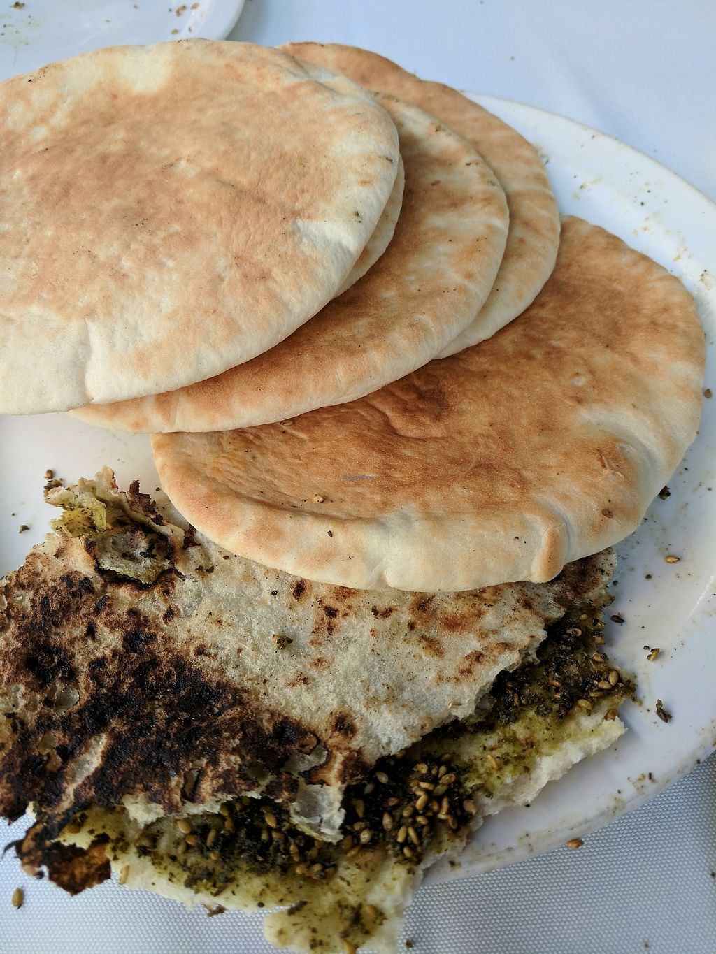 """Photo of Naurah  by <a href=""""/members/profile/eee135"""">eee135</a> <br/>Pita bread and zatar bread <br/> October 7, 2017  - <a href='/contact/abuse/image/102418/312574'>Report</a>"""