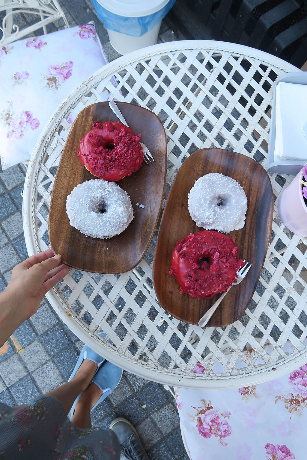 """Photo of La Donuteria  by <a href=""""/members/profile/Nikolate"""">Nikolate</a> <br/>vegan donuts <br/> October 6, 2017  - <a href='/contact/abuse/image/102421/312414'>Report</a>"""