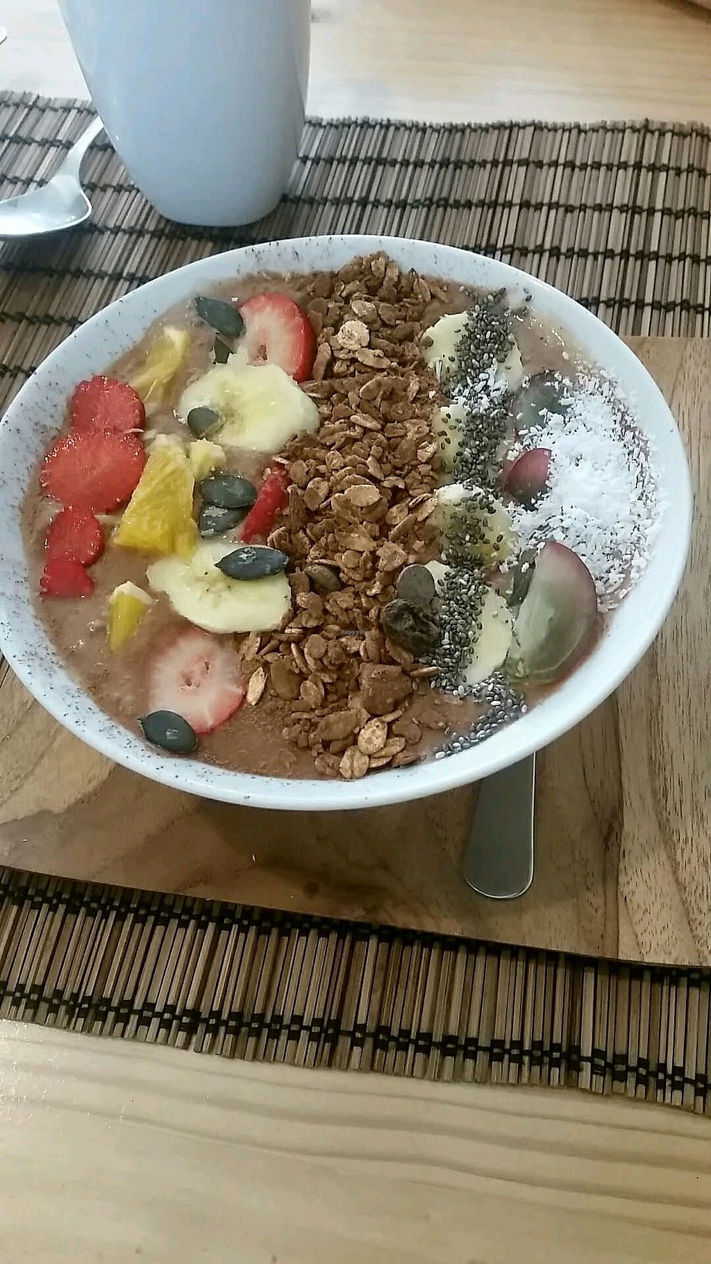 "Photo of Terra Incognita  by <a href=""/members/profile/M%26R"">M&R</a> <br/>Fruit and chocolate granola smoothie bowl <br/> February 23, 2018  - <a href='/contact/abuse/image/102445/362848'>Report</a>"