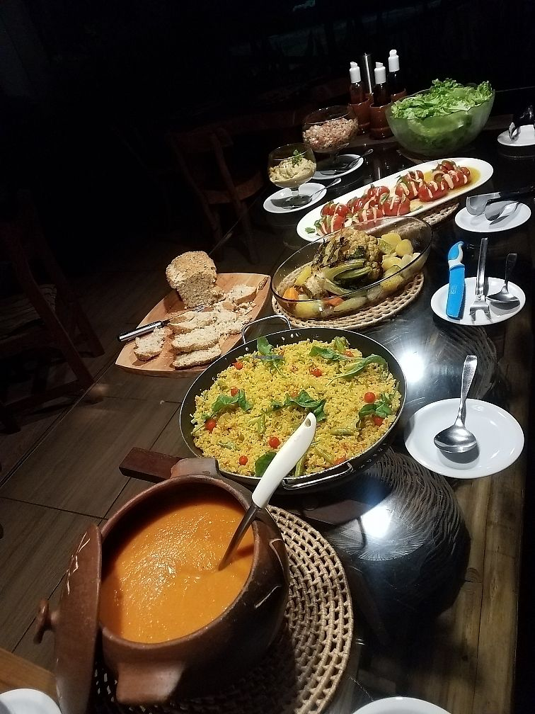 "Photo of Pousada Ecohar Yoga  by <a href=""/members/profile/NatalieMayer"">NatalieMayer</a> <br/>Vegetarian feast!! <br/> March 26, 2018  - <a href='/contact/abuse/image/102455/376290'>Report</a>"