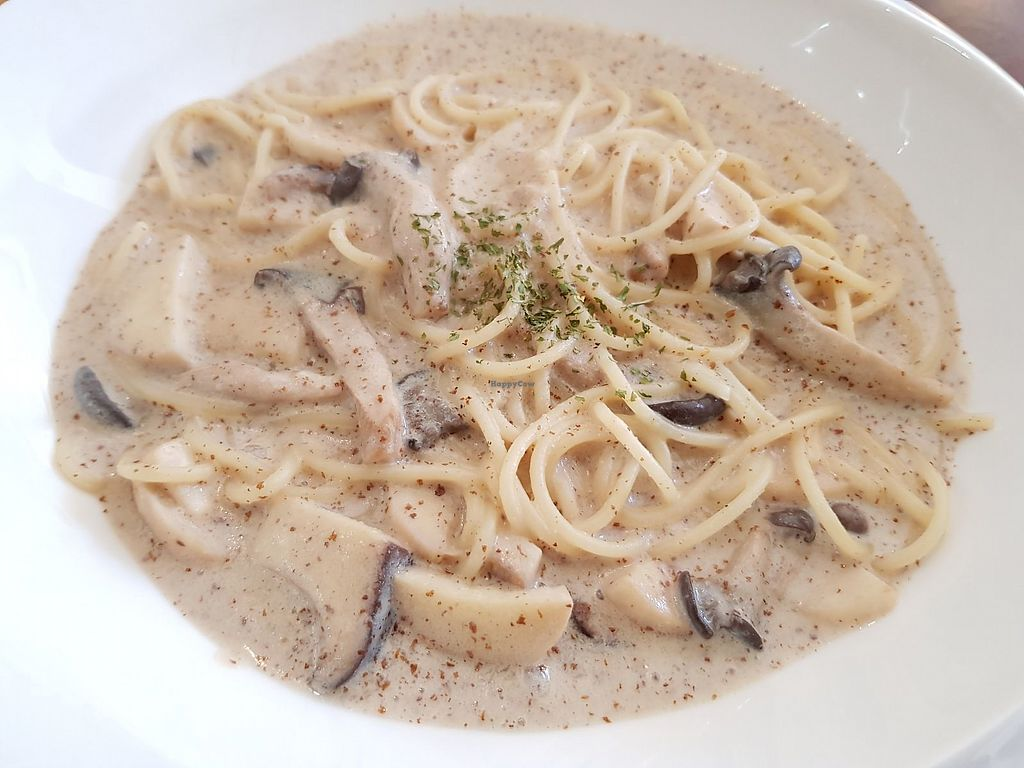"""Photo of Sun - 카페  by <a href=""""/members/profile/YiTingOng"""">YiTingOng</a> <br/>Soymilk perilla mushroom pasta <br/> April 11, 2018  - <a href='/contact/abuse/image/102461/383658'>Report</a>"""